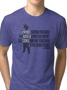 ...Just Saiyan.. Tri-blend T-Shirt