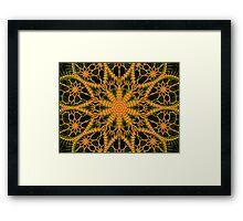 ©DA Neon Fractal VI 2 Framed Print