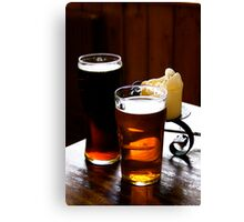 A Pint Or Two Canvas Print