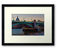 Southwark Bridge, London, England Framed Print