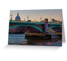 Southwark Bridge, London, England Greeting Card