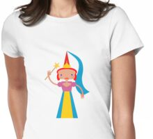 Fairy with magic wand Womens Fitted T-Shirt
