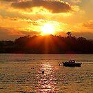 The Lone Fishing Boat by Fara