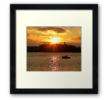 The Lone Fishing Boat Framed Print