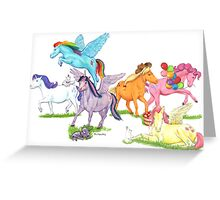 Little Ponies - My Little Pony Greeting Card