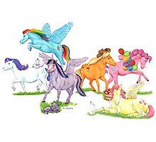 Little Ponies - My Little Pony Photographic Print