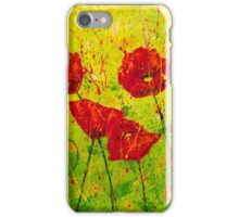Field of Red Poppies iPhone Case/Skin