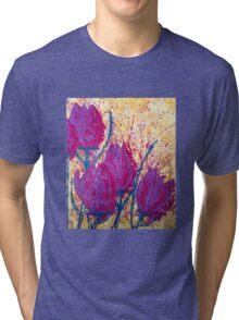 Purple Tulips Tri-blend T-Shirt