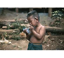 Smoking Kid Photographic Print