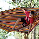 Jacob Swinging In Hammock by James Troi