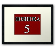 Hoshioka anime sports team Framed Print