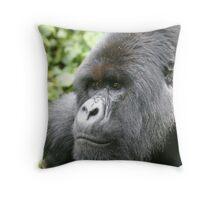 Silverback Mountain Gorilla Throw Pillow
