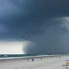 Storm on the Beach by John Wilchek