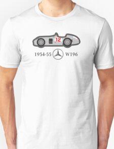 1954-55 Mercedes-Benz W196 Double f1 champion vector Unisex T-Shirt