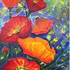 Poppies Seeking Light by Wendy Sinclair