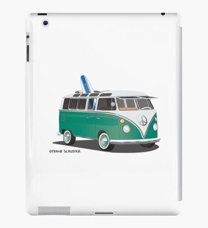 Hippie Split Window VW Bus Green & Surfboard iPad Case/Skin