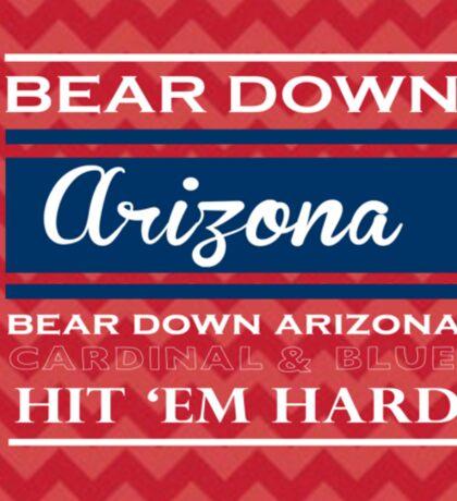 Bear Down Arizona! Sticker