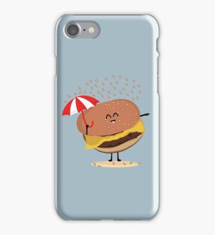 "Cheeseburger ""It's raining! I need a Bigger Umbrella"" iPhone Case/Skin"