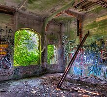 Brenton Point Stables Abandoned 2 by Joshua McDonough Photography