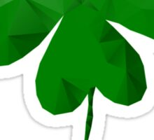 Low Poly, Geometric Four Leaf Clover Sticker