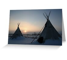PLAINS CREE TIPI Greeting Card