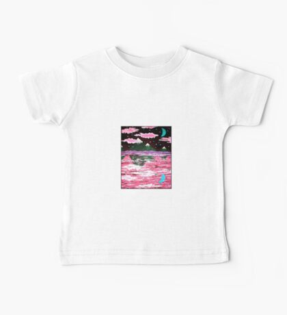 Pink Clouds, Mountains Baby Tee