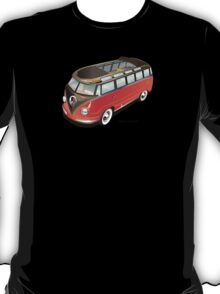 Split 23 Window VW Bus Red Black Old Style T-Shirt