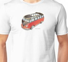 Split 23 Window VW Bus Red Black Old Style Unisex T-Shirt