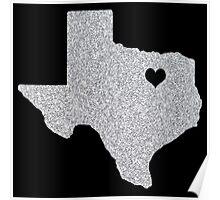 Dallas, TX Glitter State Poster