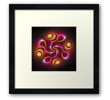 'Light Flame Abstract 249blk' Framed Print
