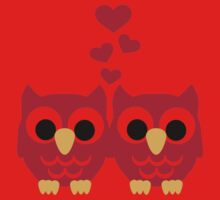 Red owls hearts Kids Clothes