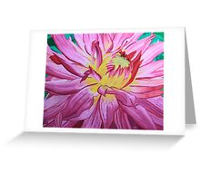 Dazzling Pink Dahlia Greeting Card