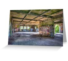 Brenton Point Stables Abandoned Greeting Card