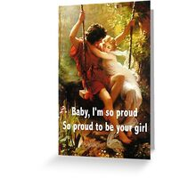 Dangerous in Love / Springtime by: Pierre Auguste Cot Greeting Card