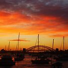 Sunset Sydney Harbour Bridge, Sydney, Australia. by Samantha  Goode