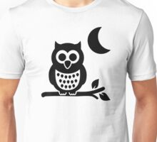 Owl moon night Unisex T-Shirt