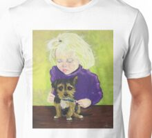 Beautician, girl grooming puppy dog Unisex T-Shirt