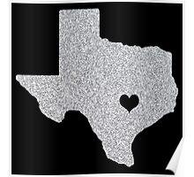 Austin, TX Glitter State Poster
