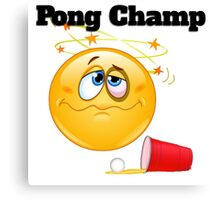 pong champ Canvas Print