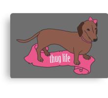 Thug Life - Vaguely Menacing Puppies with Bows #2 Canvas Print