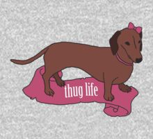 Thug Life - Vaguely Menacing Puppies with Bows #2 One Piece - Long Sleeve