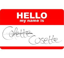 HELLO my name isn't Colette by swelina