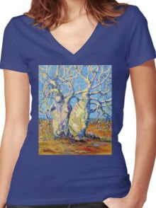 Kimberley Giants, Boab Trees Women's Fitted V-Neck T-Shirt