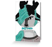 Miyako Furry Greeting Card