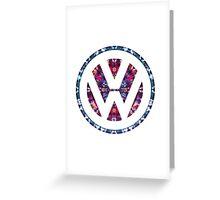 Volkswagen Tie Dye Logo Badge Greeting Card