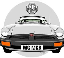 MG MGB rubber bumper white by car2oonz