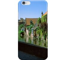 Bruges Canal with Houses, 2002 iPhone Case/Skin