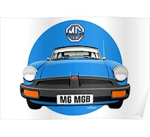 MG MGB rubber bumper blue Poster