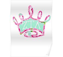 Zeta Crown Lilly Print Poster