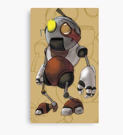 Little Robot Boy 5 Canvas Print